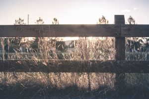 Wooden ranch fence in Thornton